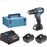 牧田 12V HP333 震動夾頭電鑽 (2用充電座+18V 5.0電池*2+12V 2.0電池*1) 底價ㄙ詢