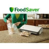 【送真空卷裸裝(11吋)2個】Foodsaver FM2110P 家用真空包裝機 含夾鏈袋轉接頭組