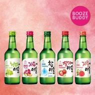 (Bundle of 5 Bottles) Jinro Soju - (1 x Strawberry, 1 x Green Grape, 1 x Grapefruit, 1 x Plum, 1 x Chamisul Original)