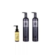 【FARZO】檜木精油低敏洗髮精1000MLx2 +米糠菁萃護髮油100ML