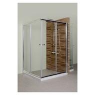 淋浴拉門/浴室拉門系列/L型橫推門 簡框清透強化玻璃(含按裝)