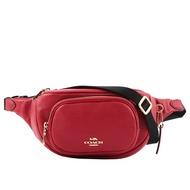 【COACH】素面荔枝皮革口袋腰包(紅色) 6488 IMF8Q