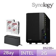 【UPS超值組】Synology DS220+ 搭【WD 8TB x2】紅標 Plus NAS硬碟+【APC】650VA離線式