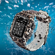 Waterproof Silicone Strap Watch bandBelt + watch case for Apple Watch 4 44mm Free As Shown