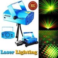 ไฟเลเซอร์ ไฟผับ ไฟเธค สำหรับงานแสดง งานเลี้ยง งานปาร์ตี้ Mini Laser stage lighting Overall