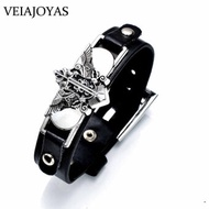9 Anime Leather Charms Bracelets One Piece Naruto Black Butler Fairy Tail Attack On Titan Death Note Lol Game Bracelets Bangles