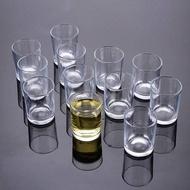 *新款*酒盅玻璃小酒杯裝白酒50ml厚底一口杯八角杯平身杯啤酒杯10ml透明