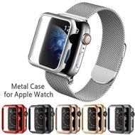 ที่มีคุณภาพสูงฮาร์ดโลหะกรณีป้องกันเชลล์สำหรับ Apple Watch 1 2 3 4 5 42 มิลลิเมตร 38 มิลลิเมตร 40 มิลลิเมตร 44 มิลลิเมตรกรอบปกอลูมิเนียมกันชนสำหรับ Apple Watch 4 5
