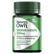 Nature's Own Siberian Ginseng 1000mg 60 Tablets