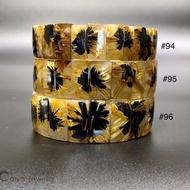《彩雅寶石精品》太陽花手排 鈦晶手排 太陽對花 太陽花母礦-22mm N0-96