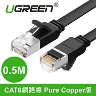 綠聯 0.5M CAT6網路線 Pure Copper版黑色