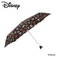 大賀屋 米奇 晴雨傘 黑色英文字 頭型 傘 陽傘  Mickey Mouse 迪士尼 日貨 正版授權 J00012293