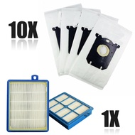 10Pcs Vacuum Cleaner Dust Bag W/H12 Hepa Filter For Philips Electrolux Cleaner