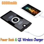 SG Wireless Charger with 6000mAh Portable charger powerbank Support QI standard Wireless for Samsung