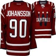 Marcus Johansson Washington Capitals Autographed 2015 Winter Classic Reebok Premier Jersey - Fanatic