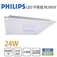 飛利浦/LED 2尺X2尺 平板燈 24W 全電壓 白光/自然光 取代輕鋼架// 永光照明PH-RC093V%
