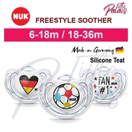NUK Orthodontic Soother Pacifier FREESTYLE [ 6-18m/ 18-36m ] Football Puting Kosong Anti Jongang Bola