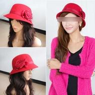 Bucket Rose Women Hat Flower Vintage Cloche Cap Headwear