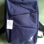 全新 英國品牌 KANGOL 藍色肩背包 後背包  旅行背包 筆電腦包 大包 大方好用 男女適用