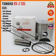 JP Yamaha RX-Z 135 RXZ135 RXZ 59.25mm~65.25mm Piston Kit Pin 16 Motorcycle Motosikal 2 Stroke Racing Engine