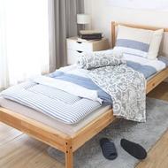 好市多 睡綿綿單人寢具毛毯五件組 - 簡約條紋