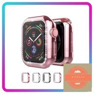 ร้านแนะนำCase Apple Watch ซิลิโคน➕ เพชร 2สีพร้อมส่ง 38mm 40mm 42mm 44mm case applewatch 1/2/3/4/5/6