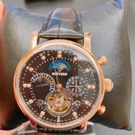 KINYUED鏤空機械錶鑲鑽雕花機械錶 UF913