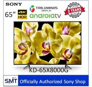 "Sony  65"" 4K HDR Andriod TV KD-65X8000G  รุ่นปี 2019"