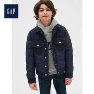 【GAP】男童 溫暖柔軟長袖鋪棉牛仔外套(524882-海軍藍)