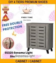 DIY 4 Tiers Premium Shoes Cabinet / Shoe Cabinet / Kasut Rack/ Kasut Rak / Kasut Almari / (su 225)