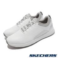 Skechers 高爾夫球鞋 Go Golf Elite 4 男鞋 緩衝 緩震 疏水 皮革鞋面 輕巧 靈敏 白 灰 214022-WGY 214022-WGY