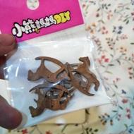【imin】 棕色小搖搖馬 木製 一包6入
