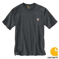CARHARTT - K87 020 美線 Pocket Tee 口袋 短T 素T (深麻灰 020) 化學原宿