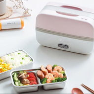 Bear can be plugged in electric heating lunch box portable rice cooker steaming rice cooker steamer
