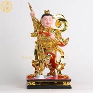 【佛心佛緣】哪吒三太子神像 中壇元帥單輪太子 道教神像佛像樹脂三太子擺件