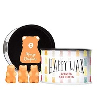 Happy Wax New Cocktail Mix Soy Wax Melts - Scented Wax Melts Infused with Essential Oils - Cute Bear Shapes Perfect for Melting in Your Wax Warmer (Mango Daiquiri, Elderflower Gin, Watermelon Mojito)