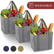 Reusable WASHABLE Grocery Shopping Cart Trolley Bags - set