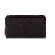 Tory Burch Patent Leather Continental Wallet (BLACK)