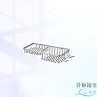 好品質台製衛浴配件 廚房收納單層雙格網籃 置物籃 置物架 放衣架 (ST304不鏽鋼 SUS304不銹鋼) 浴室配件 YC813