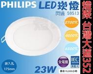 【燈聚】 PHILIPS 飛利浦 LED崁燈 17.5公分 崁燈 23W 閃適 59513 崁入孔175mm