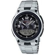 CASIO 10年電力、指針+數字雙顯 錶盤以世界地圖作為設計 ( AW-80D -1A 2 ) AW-80D學生錶