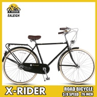 Raleigh 26-inch Vintage Bicycle Inside Eight-speed Road Bike Chrome-manganese Steel Bike