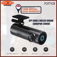 Xiaomi 70mai Smart Dash Cam 1S Car DVR 1080P Night Vision Voice Control WiFi Car Camera