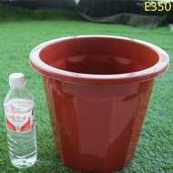 【GX】優質E型塑料花盆長體高花盆簡約地面桌面大花盆純白色花盆塑料