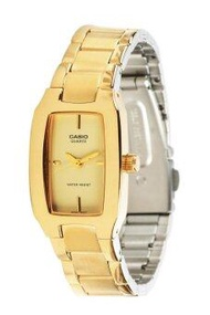 Casio นาฬิกาข้อมือ สีทอง สายสแตนเลส รุ่น LTP-1165N-9CRDF