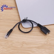[IN STOCK] Female to RJ9 Male Plug  3.5mm   Phone Audio Adapter Cable Headset Jack Cable
