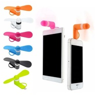 USB Mini Fan Portable Travel Mobile Phone Mini Fan Cooler USB Fan for Android iphone Type-c Three-in-one