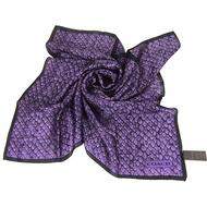 COACH 鱗蛇紋LOGO絲巾(紫)