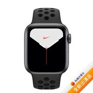 【贈品組】Apple Watch Nike+ Series 5 GPS + LTE 版 40mm 太空灰配黑色 Nike 運動錶帶 (MX3D2TA/A)【全新出清品】