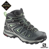 【salomon】中筒 登山鞋 GORETEX 防水 女 X ULTRA 3(灰綠/鳳仙綠/綠鏽)